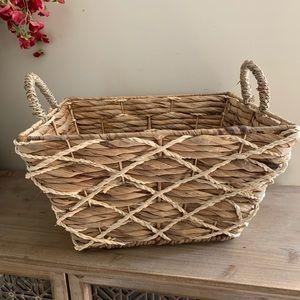 Other - Large rustic woven basket bin farmhouse